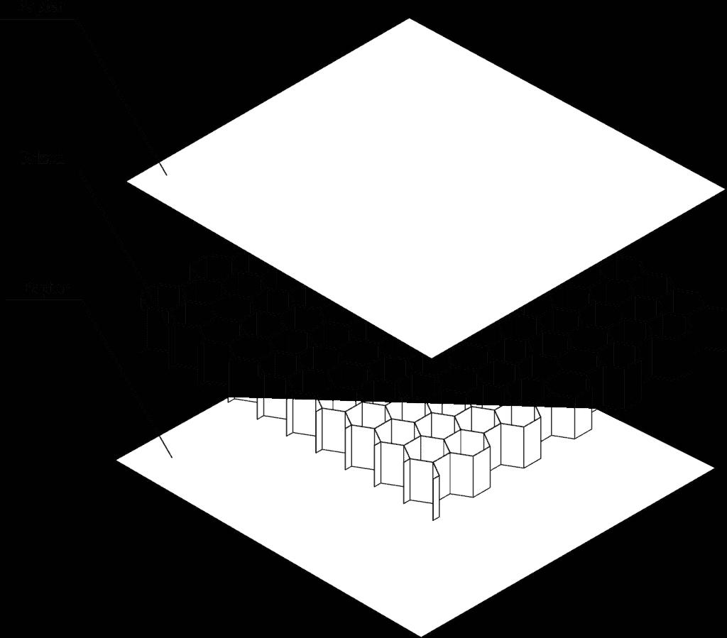 budowa płyty z plastra miodu